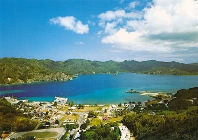 The small village on Chichi-jima island in the Bonin Island chain of Japan.