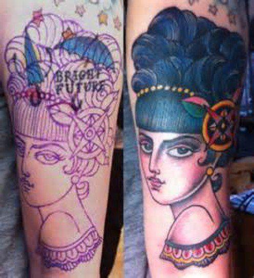 Resultado de imagem para cover up with black and white tattoo