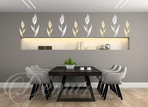 Tulipan z rabatki - Kwiaty - Naklejka na ścianę - Demur