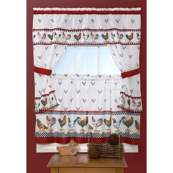 Achim Top of the Morning Cottage Curtain Set - TMCS