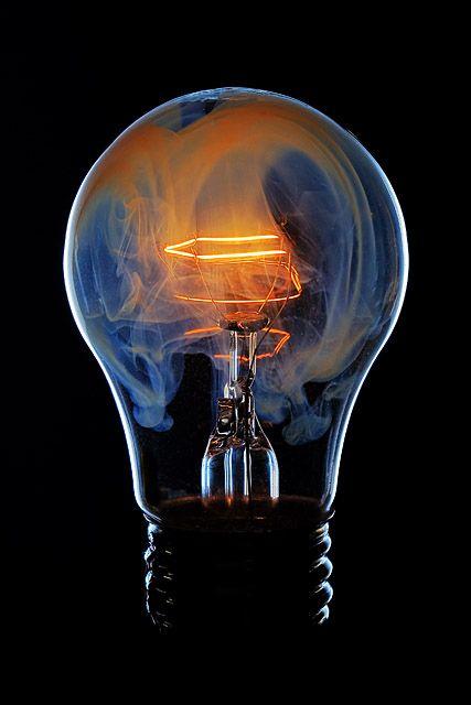 Light bulb, lit