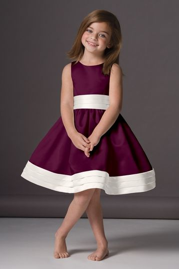 Seahorse 46248 Flower Girl Dress in Plum