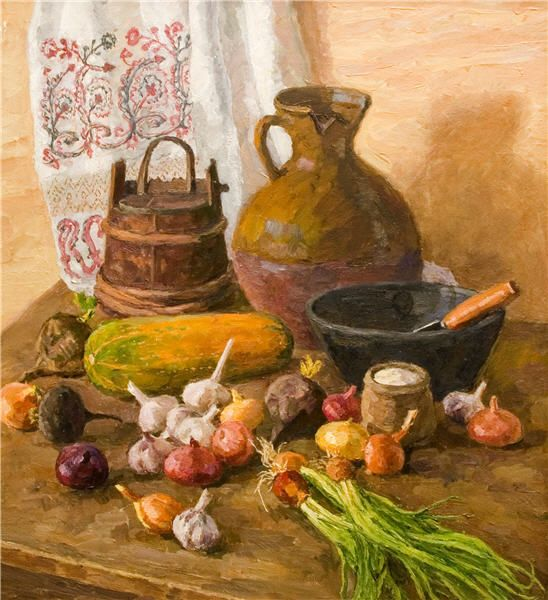 Дарьин Геннадий Александрович 1922-2012 Крестьянский натюрморт, 1998г.