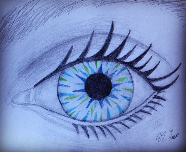 I'm watching you! Drawn by Anne-May Lien. #drawing #eye