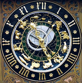 16th Century astronomical clock in Ulm, Germany
