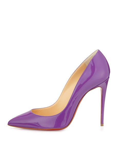 Pigalle Follies Red Sole Pump, Digitale Purple