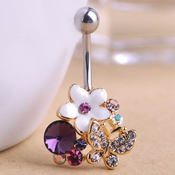 Esmalte Enamel Flowers Butterfly Navel Belly Button Rings Body Piercings Pretty Violetta Rhinestone For Women piercing nombril $9.85  Just look, that`s outstanding!Get it here --->  http://www.fancyjewelries.net/product/esmalte-enamel-flowers-butterfly-navel-belly-button-rings-body-piercings-pretty-violetta-rhinestone-for-women-piercing-nombril/ #Ring #Jewelry #homemade #shop #beauty #Woman's fashion #Products