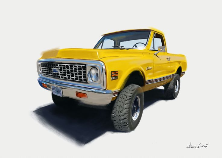 I've painted this beautiful 1980 Chevrolet K5 Blazer for Jared Rowley from Hillsboro, Oregon. His dad bought it in 1980, and after his death, Jared renovated it to this immaculate state, and drives it himself today. A remarkable car with a story, and a labour of love for me. Cheers, Jonas  See more of my art at jonaslinell.com  #chevy #chevrolet #blazer #K5 #art #painting #car #4x4 #jonaslinell #linell #artbyjonaslinell #artwork #kunst #illustration #poster #offroad #yellow #classic #retro