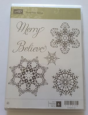 SNOWFLAKE-SOIREE-6-pc-Unmounted-Rubber-Stamp-Set-NEW-Stampin-039-UP-Believe
