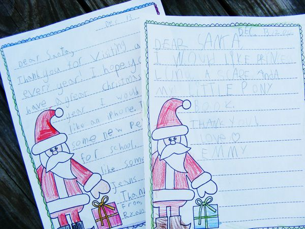 "Turn Christmas wishlists to Santa into a fun writing activity as kids brainstorm, organize, write a rough draft, and publish with these free ""Letters to Santa"" graphic organizers and printables."