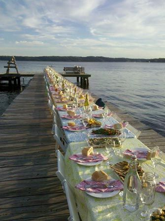 Reminds me of Dinner on the Dock while at Cape Cod Sea Camps in Brewster, MA