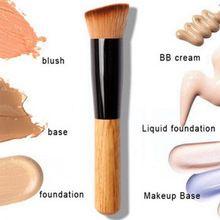 Pincel de maquiagem Multifuncional Fibra Macia Angular Flat Top Foundation Pó Pincel de Maquiagem Profissional Escova Ferramenta de Cosméticos alishoppbrasil