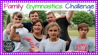 FAMILY GYMNASTICS CHALLENGE - YouTube