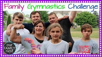 FAMILY GYMNASTICS CHALLENGE - YouTube