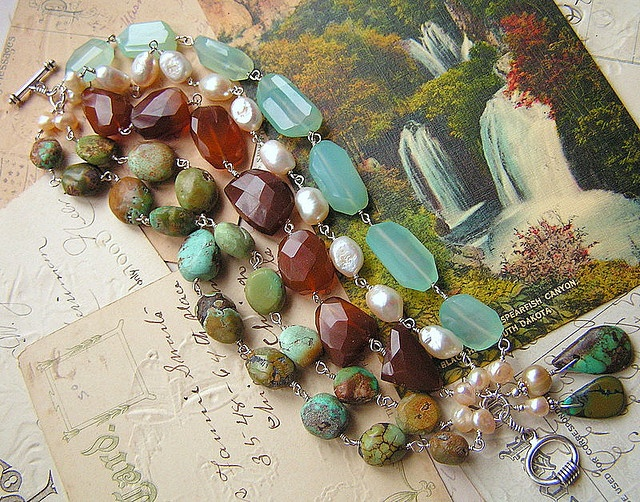 ❥ beautiful mix of turquoise, chalcedony, fwpearls hand-wired in sterlingGemstones Bracelets, Jewelry Inspiration, Beautiful Mixed, Nature Stones, Sterling Silver, Colors Combinations, Beautiful Hands Made Bracelets, Beautiful Jewerly, Fwpearl Hands Wir