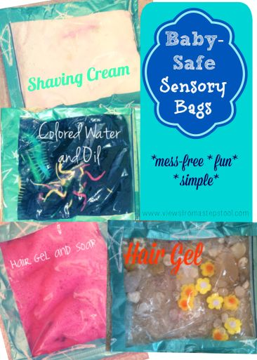 These sensory bags are BABY, TODDLER & PRESCHOOLER approved! Finding sensory activities for a wide range of ages can be difficult but these are a HIT!