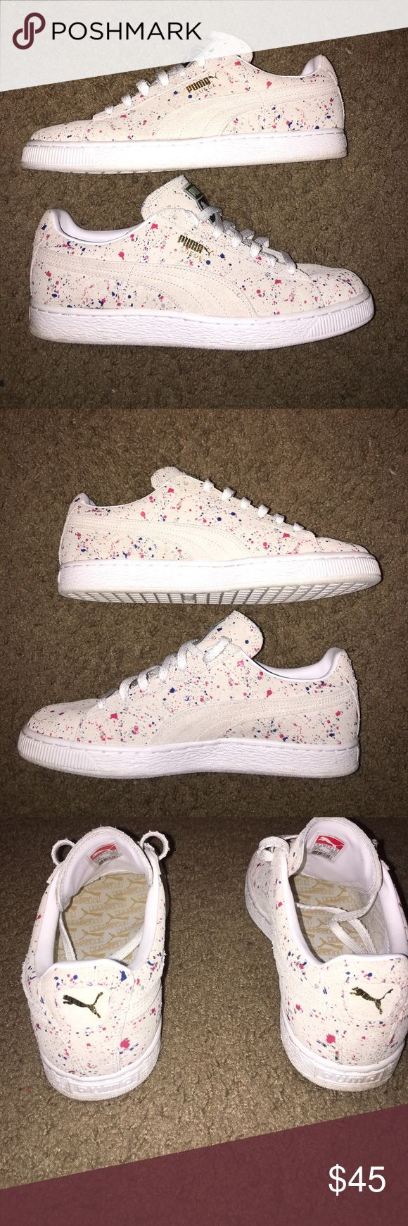"""PUMA SUEDE """"ALL OVER SPLATTER"""" MENS SIZE 9 PUMA SUEDE """"ALL OVER SPLATTER"""" MENS SIZE 9 GREAT CONDITION Puma Shoes Sneakers"""