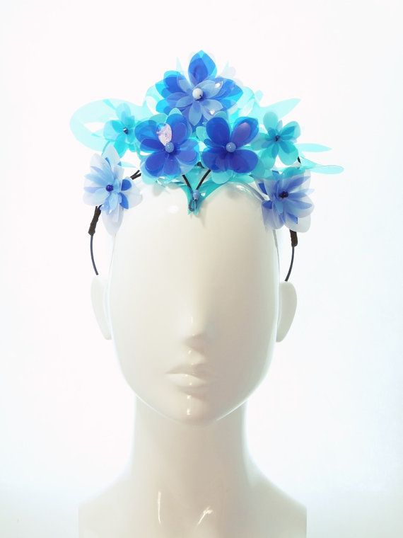 This Striking, Shiny Tiara will add some wow factor to you Spring Racing outfit!  - Made with cut plastic, beads and wire - Wire tiara base