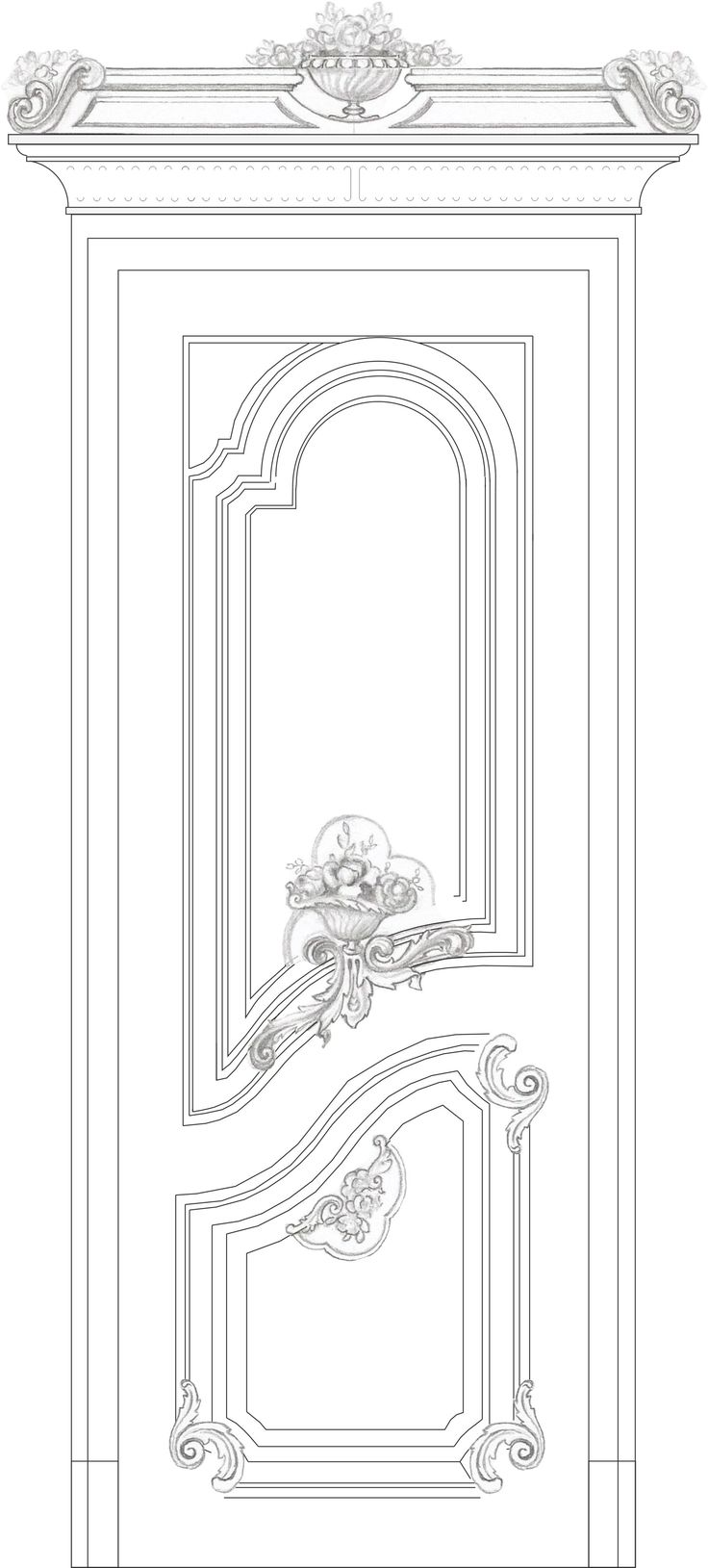 Classic Doors Wooden Doors Door Design Interior Doors Carving Rococo French Style Moldings Woodwork  sc 1 st  Pinterest & 227 best Drawing doors images on Pinterest | Architectural drawings ...