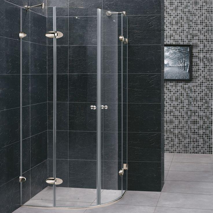 vigo vg602140x40 frameless 40 inch tempered glass shower enclosure w polished edges