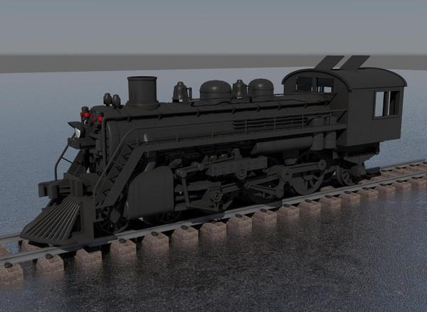 CGI - $15 - steam locomotive 3d obj - train engine... by mvcomputers