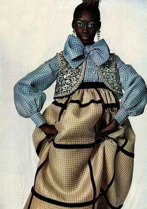 Geoffrey Beene worn by Princess Toro @1969