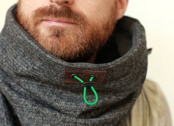 Snock® cowl scarf oversized cowl mens scarf winter cowl by jaffic