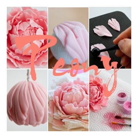 peony gum paste tutorial                                                                                                                                                      More