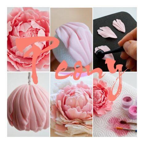 peony gum paste tutorial                                                                                                                                                      More