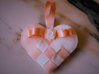 Made In Borgo: Ancora cuori - Felt heart (2)