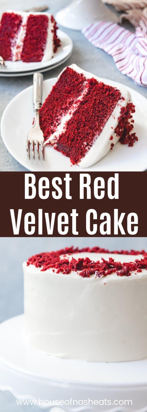 El mejor pastel de terciopelo rojo tiene un sabor único y una miga tierna y húmeda que combina …   – Cakes and Cupcakes