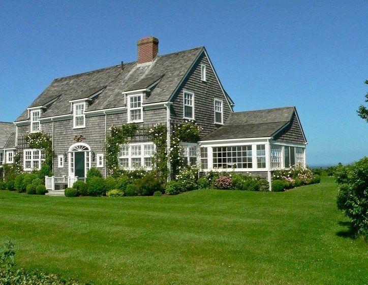 Summertime Sconsetbeauty Baxterroad Nantucketfineliving Ackstyle Pinterest Seaside Cottage Three Season Porch Shingle Style Homes