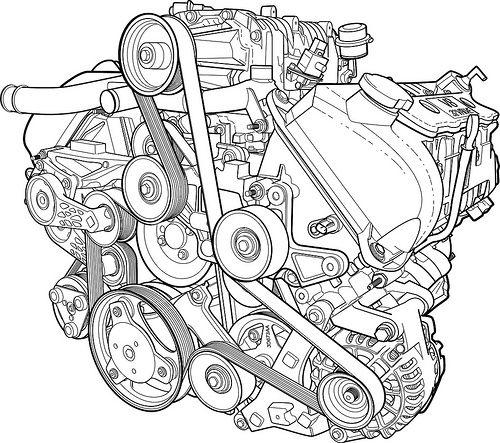 Supercharged V8 Line Render