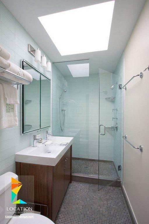 ديكورات حمامات صغيرة المساحة 50 تصميم حمامات مودرن بأفكار رائعة جدا Modern Small Bathrooms Bathroom Interior Design Small Bathroom Remodel