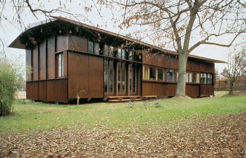 Herzog & de Meuron - Plywood house, Bottmingen 1985.