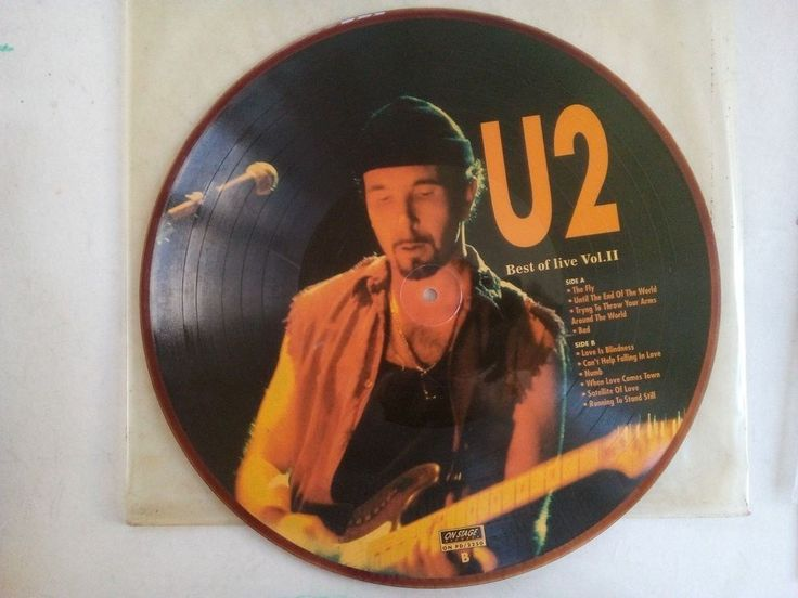 U2 LP Vinyl Best Of Live Vol II 1994 Album Arena Rock On Stage 2250 Picture Disc