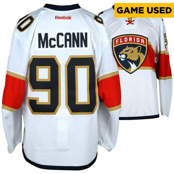 Jared Mccann Florida Panthers Fanatics Authentic Game-Used #90 White Set 2 Jersey From The 2016-17 NHL Season - Size 56 - $499.99