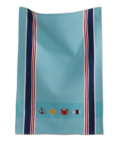 Loving this Coastal Dish Towel on #zulily! #zulilyfinds