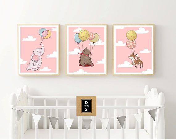 digital nursery wall art decor download printable