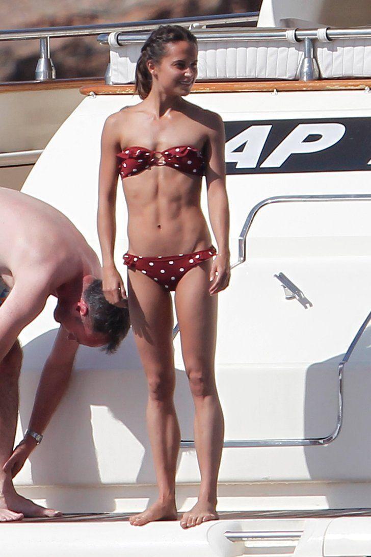 Alicia Vikander's Polka-Dot Bikini Is Sure to be a Summer Hit