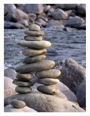 "The traditional meaning of the inukshuk is ""Someone was here"" or ""You are on the right path."" Saving the Tiger: India Journal: Entry 13 - Indian Inukshuk"