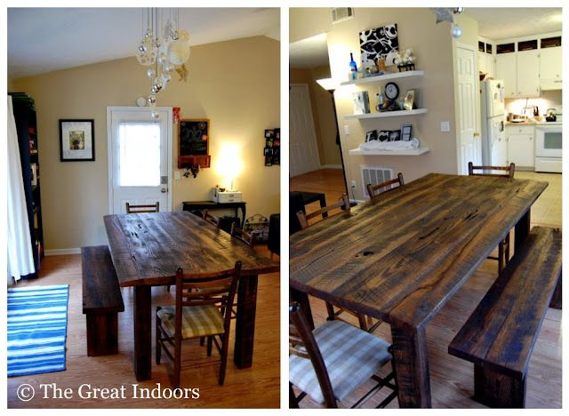 120 best reclaimed wood table images on pinterest | dining room