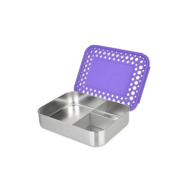 LunchBots Bento Box Trio Purple Dots
