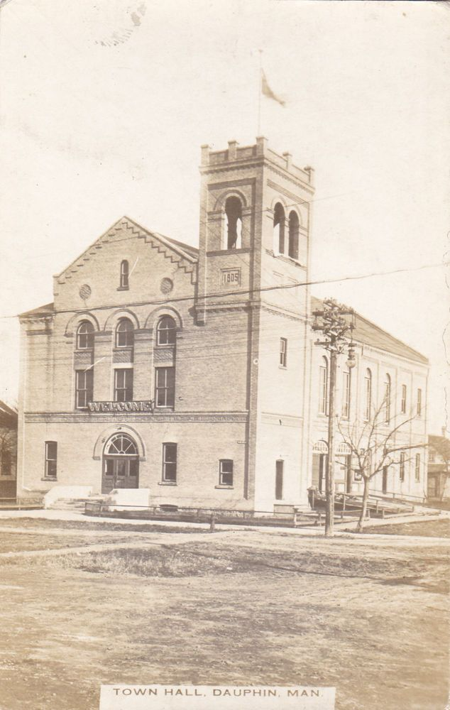 RP: Town Hall , DAUPHIN, Manitoba , Canada , 1900-10s