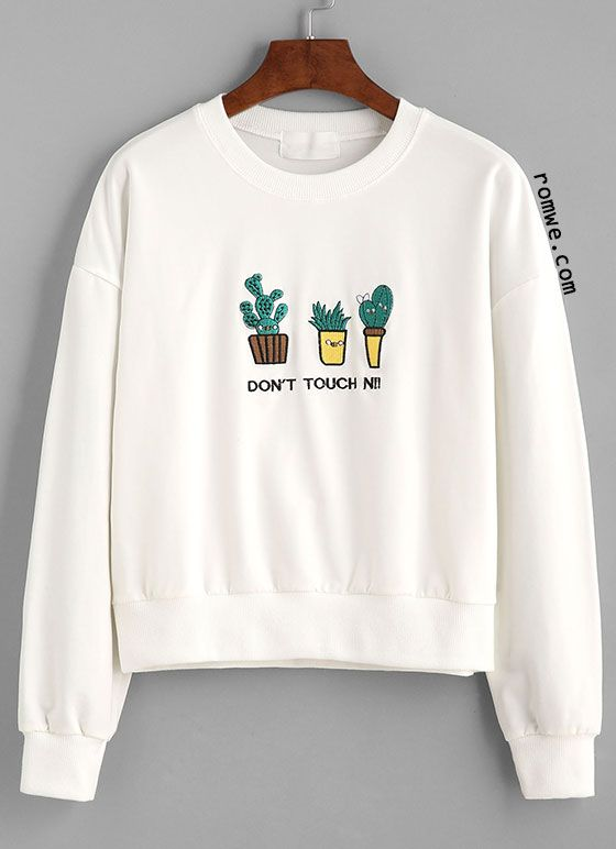 25+ best ideas about Embroidered Sweatshirts on Pinterest ...