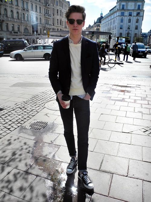 Casual On The Go Every Day Wear Mens Style Mens Wear Fashion All Stars Black And White Summer