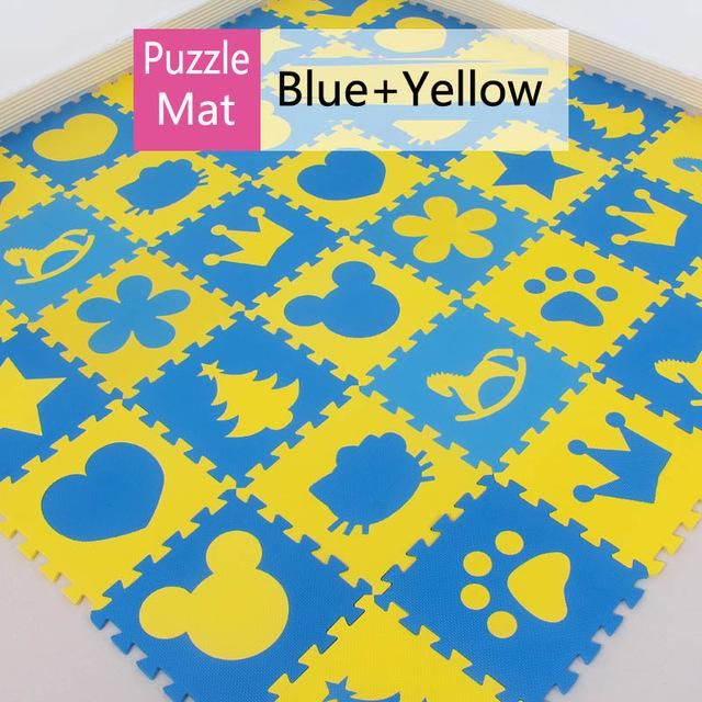 Meitoku baby Foam play puzzle floor mat,18 or 36pcs Interlocking Exercise Gym Rug carpet Protective Tile for kids(free edge)