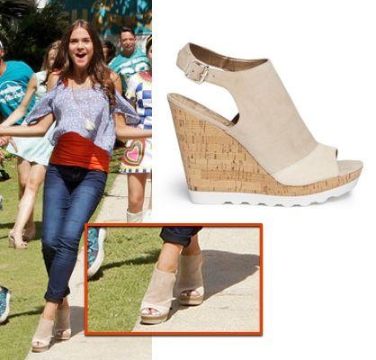 teen beach 2 maia mack nude beige wedge mules shoes