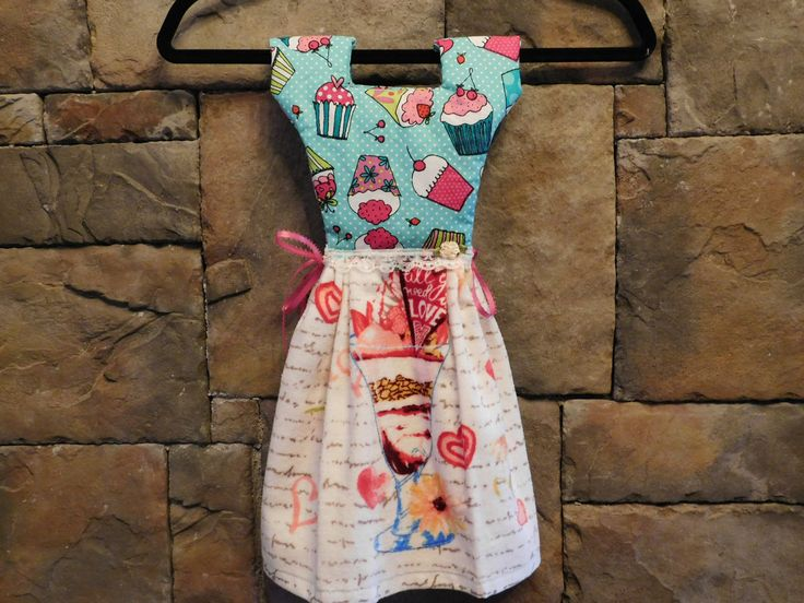 Cupcakes & Ice Cream Oven Door Towel Dress by MKMtnDesigns on Etsy