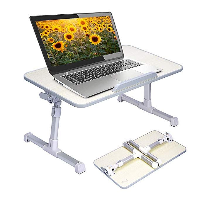 Avantree Adjustable Laptop Table Portable Standing Bed Desk Foldable Sofa Breakfast Tray Notebook S Adjustable Laptop Table Laptop Desk For Bed Laptop Table